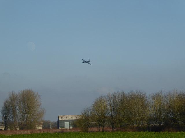 U-2 spy plane flying over Down Ampney