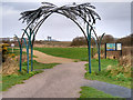 SD3346 : Archway at the Entrance to Fleetwood Marsh Nature Park by David Dixon