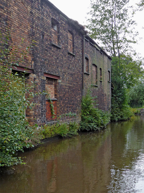 Derelict factories by the Caldon Canal near Shelton, Stoke-on-Trent