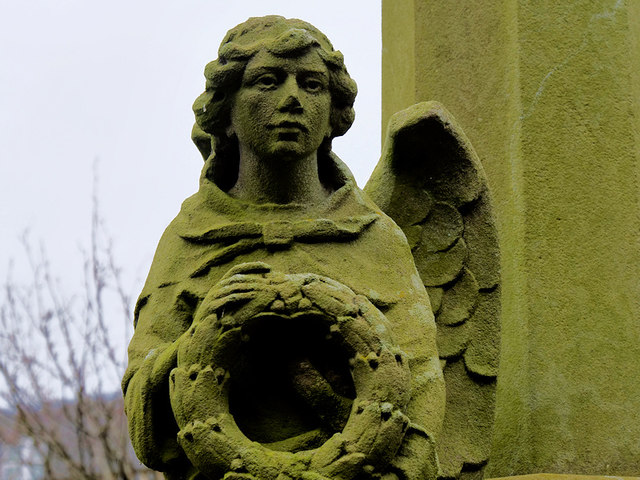 St Peter War Memorial (stone angel)