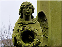SD3347 : St Peter War Memorial (stone angel) by David Dixon