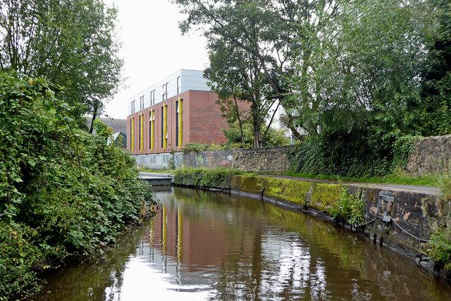 Caldon Canal west of Hanley Park, Stoke-on-Trent