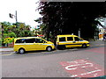 SZ0891 : Yellow taxis in Bournemouth town centre by Jaggery