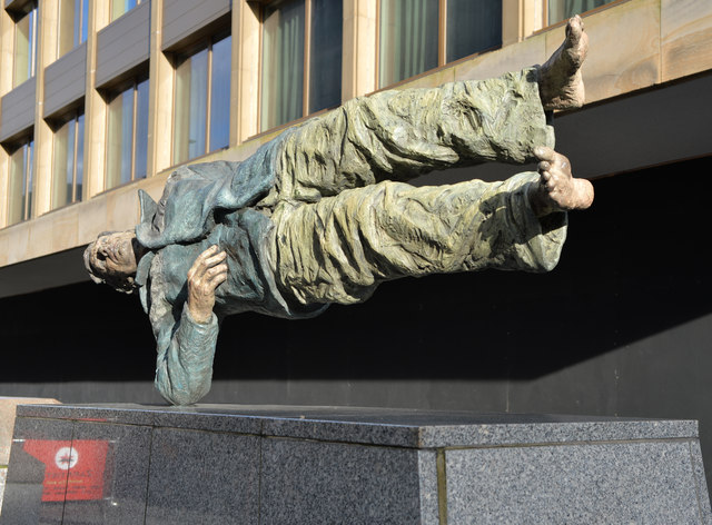"""""""Man With Potential Selves: Floating Man"""" by Sean Henry"""