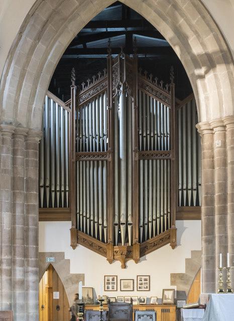 Organ, St Mary & All Saints' church, Chesterfield
