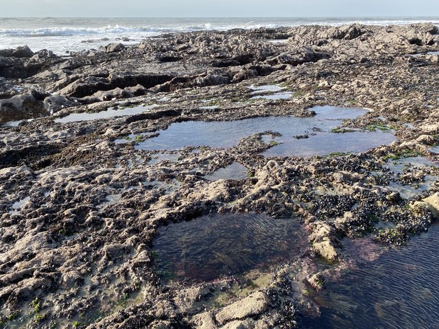Rock pools at Crabart