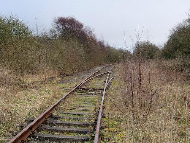 Disused Railway Track near ICI Thornton