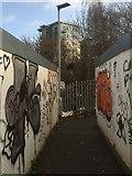 NT2774 : Temporary walkway by Richard Webb
