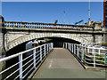 NS5864 : Walkway under Glasgow Bridge by Stephen Craven