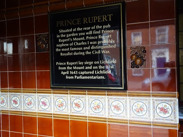Plaque in the George and Dragon Inn