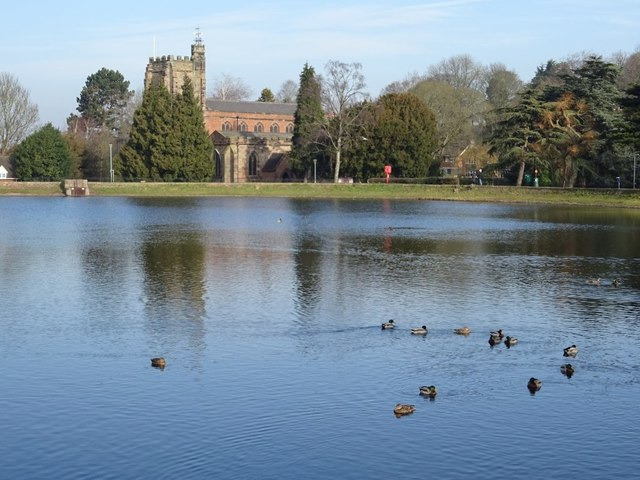 St Chad's church and Stowe Pool