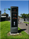 NS5964 : Glasgow Green - cycle counter by Stephen Craven