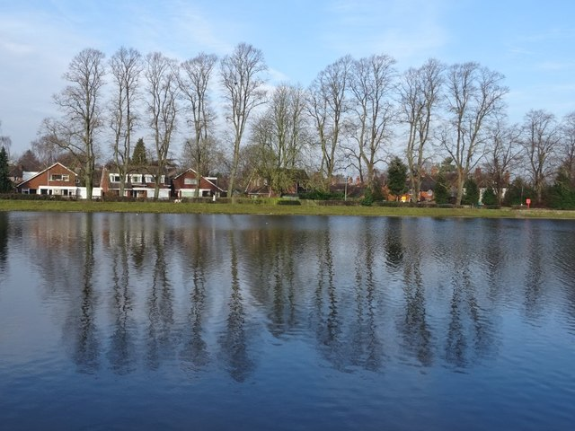Trees reflected in Stowe Pool