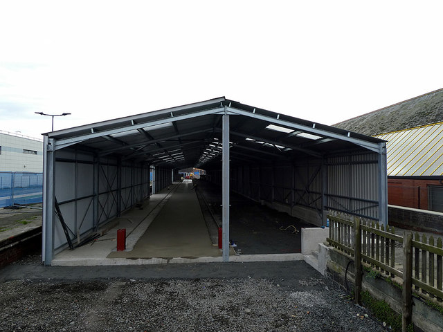 Progress on the new Vale of Rheidol carriage shed at Aberystwyth