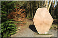 NX4465 : Gem Stane and Woodland, Kirroughtree Forest by Billy McCrorie