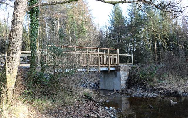 Bridge at Bruntis Loch, Kirroughtree Forest