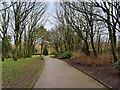 SD3138 : Path in Devonshire Road Rock Gardens by David Dixon