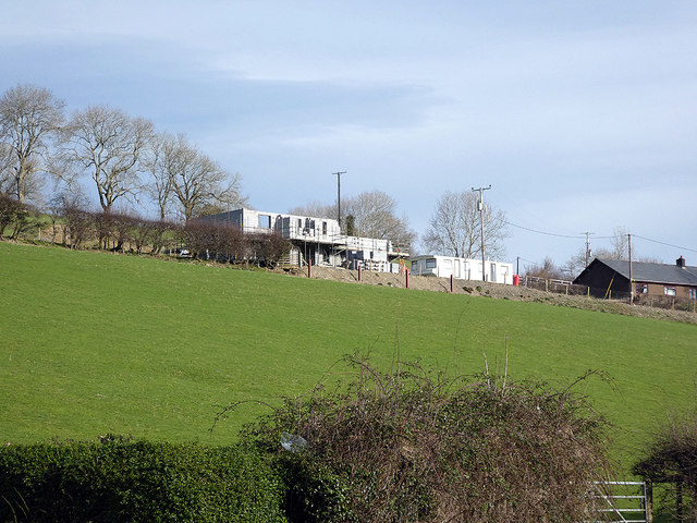 New house construction in Capel Bangor