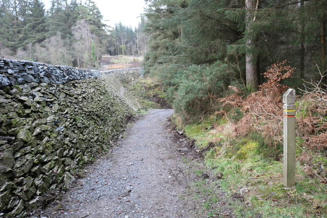 Forest Trail passing Bruntis Loch