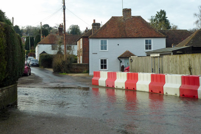 Ford at foot of Railway Hill, Barham