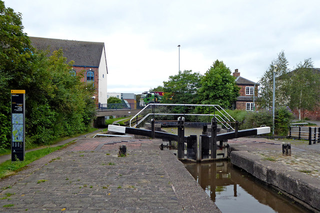 Planet Lock north of Shelton in Stoke-on-Trent