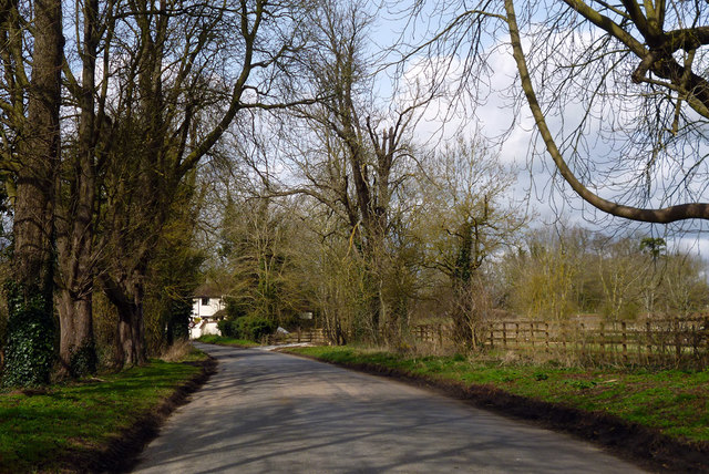 Road north from Dinton