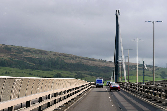 Crossing the Clyde on the Erskine Bridge