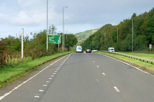 Great Western Road (A82) near to Old Kilpatrick