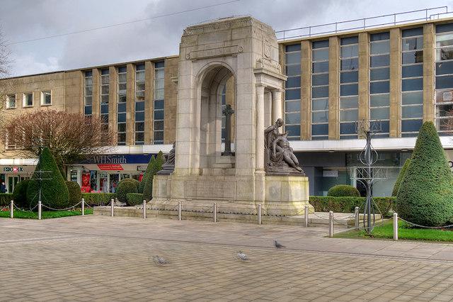 Bolton Cenotaph, Victoria Square