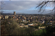 SO5074 : View over Ludlow from Whitcliffe Common by Robert Eva