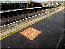 SS7597 : Zone/Parth 7 marker on platform 2, Neath station by Jaggery