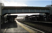 SS7597 : Two footbridges over Neath railway station by Jaggery