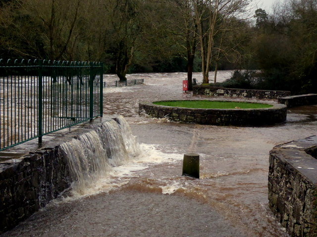 Camowen River overflowing at the Lovers Retreat