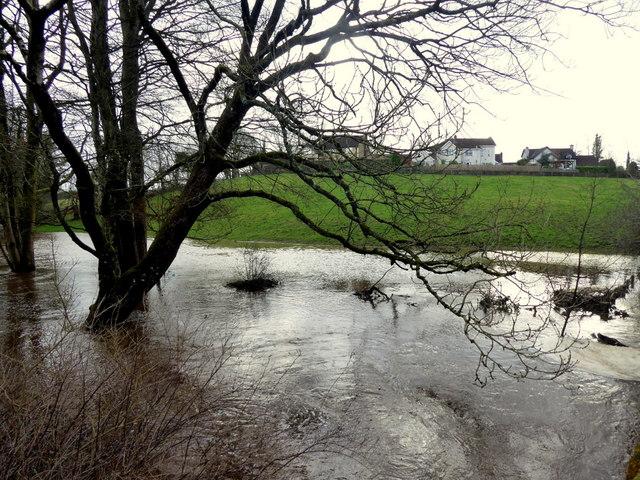 Flooding along Ballinamullan Burn