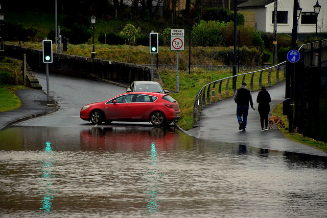 Flooding at Irishtown Road, Omagh