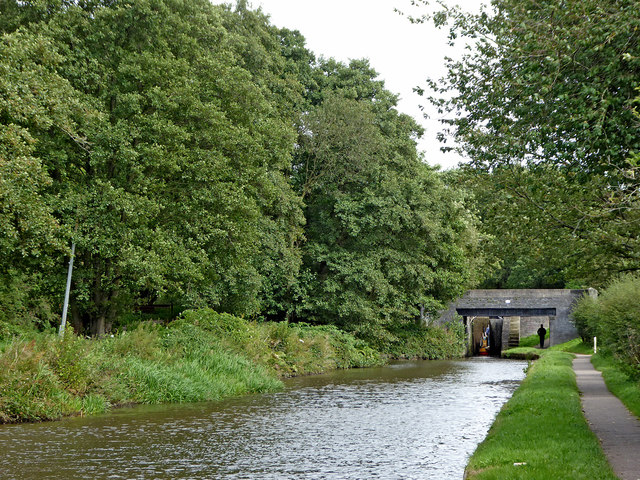Canal approaching Stockton Brook, Stoke-on-Trent