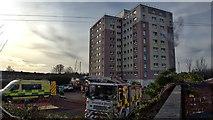 NZ5119 : Emergency services fire practice by Mick Garratt