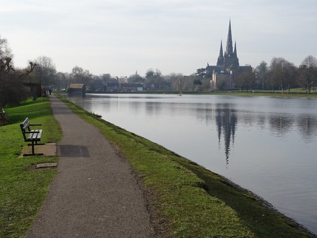 Lichfield Cathedral reflected in Stowe Pool