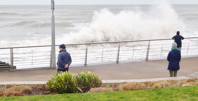 Waves on the Central Promenade at Newcastle