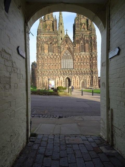 A glimpse of Lichfield Cathedral