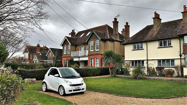 Henfield, Sussex - houses on Upper Station Road