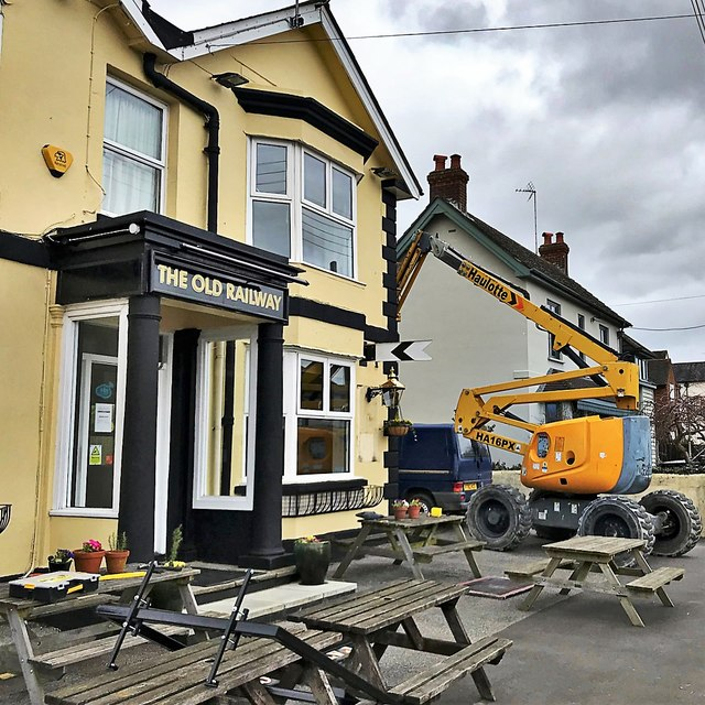 Henfield, Sussex - the former 'Cat and Canary' in the process of being rebranded