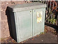 SH5670 : Lucy Oxford electrical cabinet on Penrhos Road, Bangor by Meirion