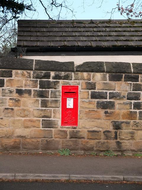 Post box, Roberttown Lane by habiloid