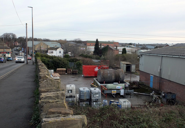 Factory yard, Huddersfield Road by habiloid