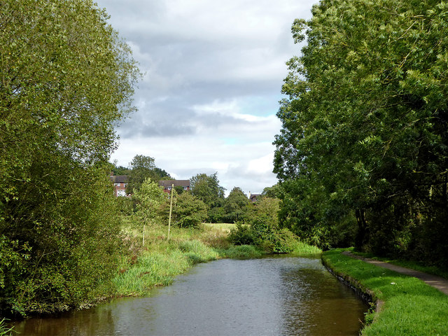 Caldon Canal approaching Stockton Brook, Stoke-on-Trent