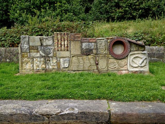 Lockside Sculpture near Stockton Brook, Staffordshire