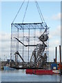 SX9256 : Skeletons in a cage, Brixham by Chris Allen
