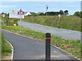 SM7625 : Cycleway and footpath along the A487 at St Davids by Mat Fascione