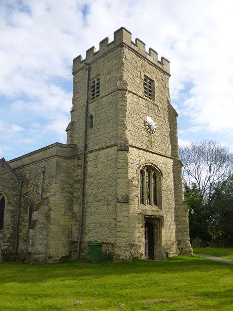 Tower, East Claydon church